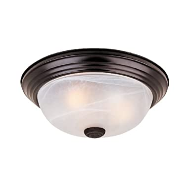 1257L-ORB-AL Flushmount Ceiling Light Oil Rubbed Bronze 3 Light 15  Fixture