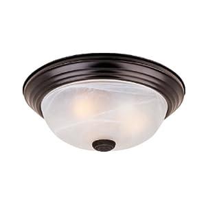 "1257L-ORB-AL Flushmount Ceiling Light Oil Rubbed Bronze 3 Light 15"" Fixture"