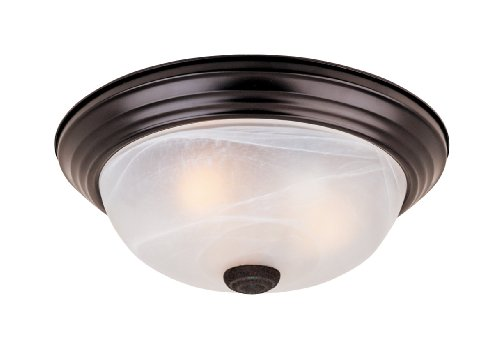 1257L-ORB-AL Flushmount Ceiling Light Oil Rubbed Bronze 3 Light 15' Fixture