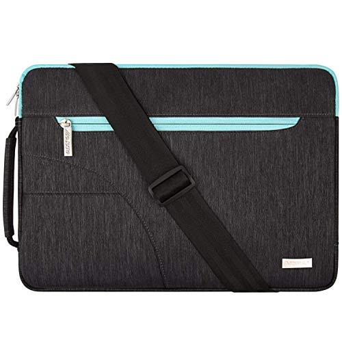 MOSISO Laptop Borsa a Tracolla Compatibile con 13-13,3 Pollici MacBook PRO, MacBook Air, Notebook Computer, Poliestere Ventiquattrore Custodia con Davanti Tasca, Blu