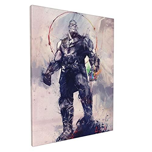 LUCKYLANS Infinity Gauntlet Thanos - Pintura al óleo decorativa a la moda con exquisito patrón de impresión de tinta, utilizado para la decoración del hogar, sala de estar y dormitorio, 30,5 x 40,6 cm