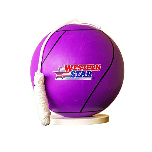 Full Size Tetherball with Rope Set for Kids│Backyard and Outdoor Gift - Premium Line (Cool Purple)