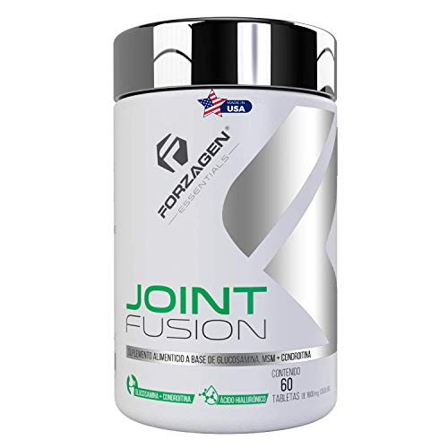 FORZAGEN Essentials   Hecho en EUA   Joint Fusion - 60 Tabletas   Complejo para Articulaciones Importado   Glucosamina 750 mg   Condroitina 600 mg   Metilsulfonilmetano (MSM) 650 mg   Contiene Ácido Hialurónico y Raiz de Cúrcuma   Excelente Antiinflamatorio y Refuerzo para Articulaciones, Huesos y Cartílagos   Suplemento Natural
