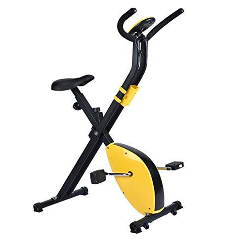 DnKelar X-Bike Cyclette per casa con Altezza del Sedile Regolabile, Bici da casa Pieghevole Magnetica con Monitor Digitale, Trainer per Gambe, Bici da Fitness con Supporto Laterale