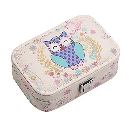 LKMY Boîtes à bijoux Petite boîte à bijoux de voyage en...