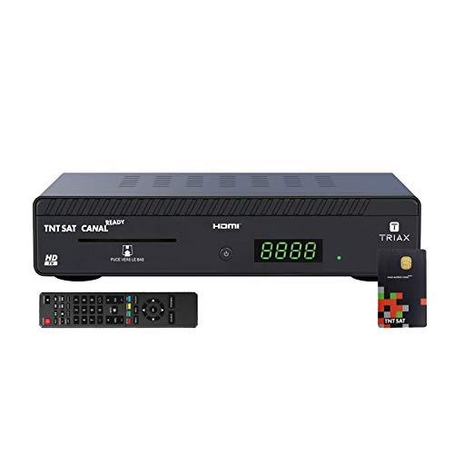 Triax Mini Satelliten-Receiver HD + Zugangskarte TNTSAT V6 Astra 19.2E