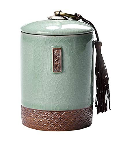 Jingyun Japanisches traditionelles Teedose-Keramik-Tee-Kanister-Tee-Glas-Ausgangsverzierung C02