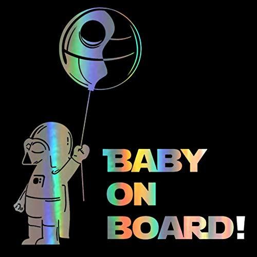 Pegatinas de Estilo de Ventana 3D 14 * 14cm Nuevo Baby ON Board Pegatina para Ordenador portátil Divertida Pegatina y Pegatina para Ventana de Cuerpo de Vinilo para Ordenador