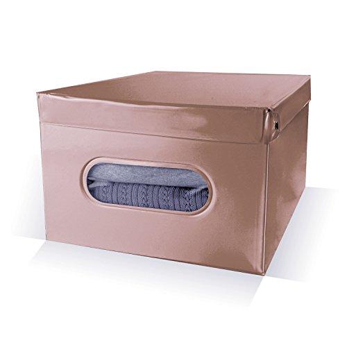 Compactor de Rangement en PVC et Carton 25 cm-Marron-Boîte