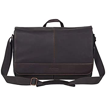 Kenneth Cole Reaction Come Bag Soon - Colombian Leather Laptop & iPad Messenger Brown