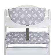 Hauck Alpha Highchair Pad Deluxe, Seat Cushion for Wooden Highchair Hauck Alpha+, Easy Fixing and Cl...