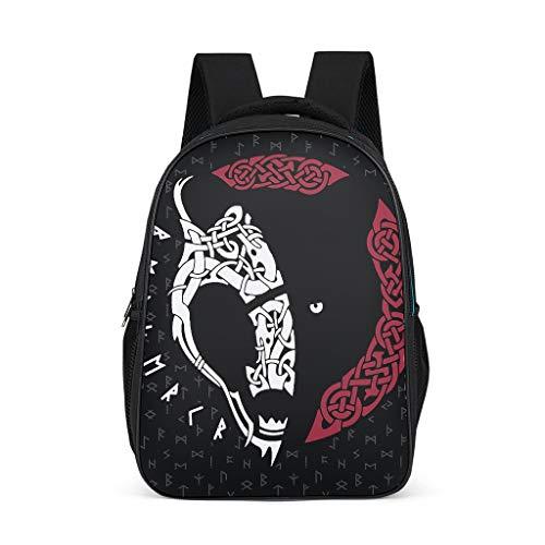 Unisex-Kinder Schultertaschen Wikinger Tier Bär Kinderrucksack Rucksäcke Stilvoll Backpack Wickeltasche mit Seitentaschen Bright Gray OneSize