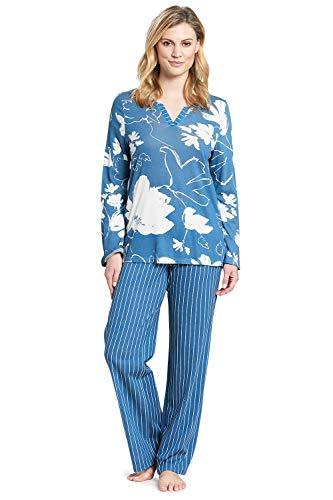 Rösch Damen Pyjama im grafischen Blumendruck Basil SMART Casual, 1193524 44 Light Flower