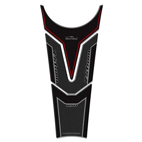Protector de Depósito Adhesivo 3D Compatible con Suzuki V-Strom 650 2017-18 Rojo