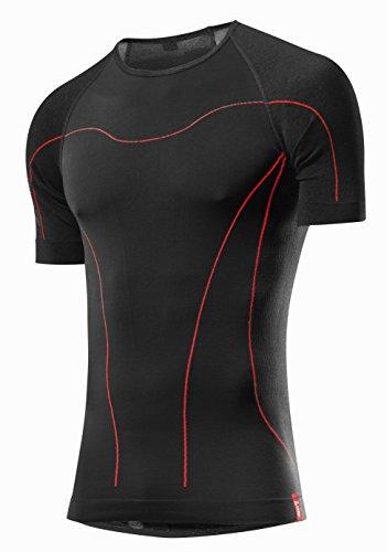 LÖFFLER Transtex-Warm-Seamless KA T-Shirt sous-vêtement sans Coutures pour Homme XL Noir - Noir