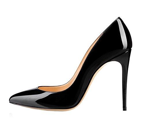 EDEFS Zapatos de Tacón para Mujer,Mujer Zapatos Sexy Aguja Tacón Altos Fiesta Zapatos Negro EU37