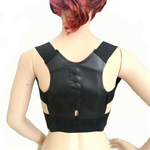 ECYC® Thoracic Back Brace Correcteur de Support de Posture magnétique pour épaule de Cou Soulage de la Douleur au Dos, Noir, XL