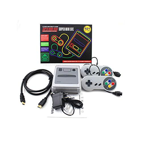 MapleIT Mini Console SFC Super HDMI HD Versione Controller Arcade Non ripetitivo 621 Integrato