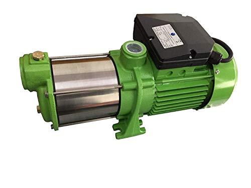 CHM INOX Kreiselpumpe Gartenpumpe HMC145 INOX - Leistung: 1100W - Spannung: 230 V / 50 Hz 9000 L/h 5 bar. Laufräder aus Edelstahl (INOX) - robuste und rostfreie Edelstahlwelle.