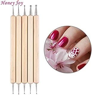 Renovatio Nails - 5Pcs 2 Way Wooden Dotting Pen Marbleizing Tool Nail Art Dot Doting Tool Set Manicure Painting Kit Design DIY Tools
