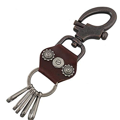 ZYLL Antike Leder Schlüsselanhänger Lederhose Kette Schlüsselanhänger Punk Leder Schlüsselanhänger