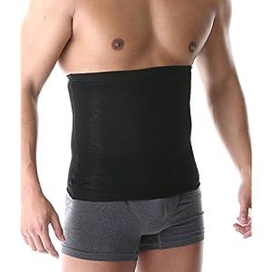 SPORTIA 加圧 ウエストサポーター 腹巻 お腹 引き締め 男女兼用 グレー XL