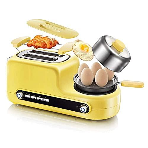 Adesign Tostadora Máquina de Desayuno Multifuncional Tostadora Hogar 2 Rebanada Tostadora Sandwich Maker con sartén Huevo Egg Egg Huevo Frito