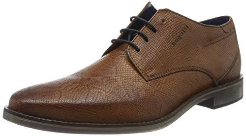 Bugatti 311646043800, Zapatos de Cordones Derby Hombre, Marrón (Cognac 6300), 41 EU