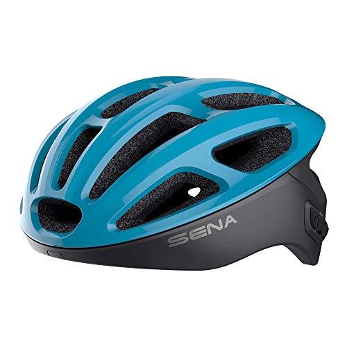 Sena R1 der Smarte Fahrradhelm (Ice Blue, Größe L)