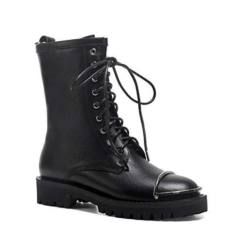 Gxet Dames-enkellaarzen, kantoorwerkschoenen, party ankle boots, dames Chelsea boots, Ankle Boots vrouwen Buckle, platte hiel laarzen vrouwen, rits laarzen voor dames