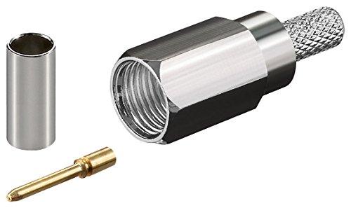 10er Set FME-Stecker Crimp für RG 58/U mit Gold Pin