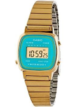Casio LA670WGA-2 Casio Gold & Teal Ladies Digital Watch - Gold / Teal / One Size