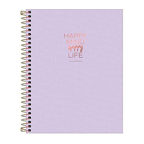 Caderno Capa Plástica, 80 Folhas, 1 Matéria, Tilibra, Multicor, Pacote de 1