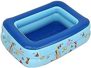 TGFVGHB Cuenca bañera Inflable Almohada Inflable Infantil del bebé de los niños Grueso Plegable con Patas Ducha (Color : Azul)
