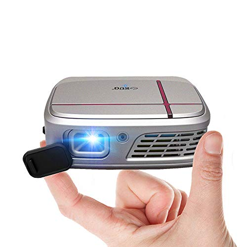 EUG HD Pico 3D Projector WiFi Wireless Screen Share DLP Projector for Smartphone 3300 Led Lumen Support 1080P Ariplay HDMI Home Cinema Portable Proyectors for Gaming Kids Outdoor Movie