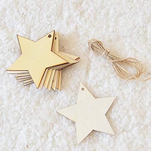 YWYU Bûches Elk Flocon De Neige Étoiles Drapeau De Noël Bannière Décorations De Noël Suspendus Drapeaux Pendentifs pour Arbre De Noël Mur en Verre Plafond (Taille : Five-Pointed Star)