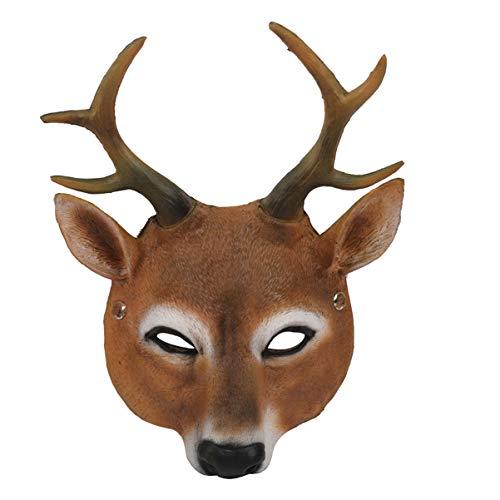 Holibanna Weihnachtsmaske Tier Rentier Gesichtsmaske Cosplay Kostüm Für Erwachsene Party Foto Requisiten