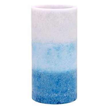 Kiera Grace Tri-Layer LED Pillar Candle with Timer, 3 by 6-Inch, Seaside Fragrance