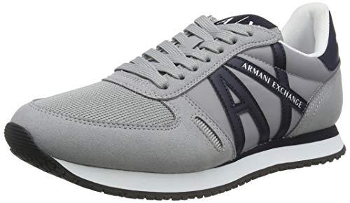 Armani Exchange Rio Sneakers, Zapatillas Hombre, Gris, 44 EU