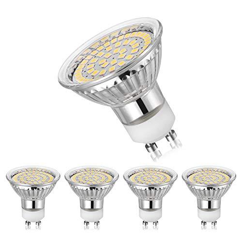 GU10 LED Lampen 5W Ersetzt 35W 50W GU10 Halogenlampe 450lm Neutralweiß 4000K AC220V-240V 120° Abstrahwinkel LED Birnen LED Leuchtmittel 5er Pack