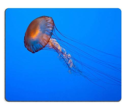 (Precision Seamed Mouse pad)17P08923 Creativity Mouse pad Gaming Mouse Pad Jellyfish Swimming Natural Rubber Material
