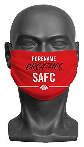 Personalised Sunderland AFC Breathes Adult Face Mask (Large)