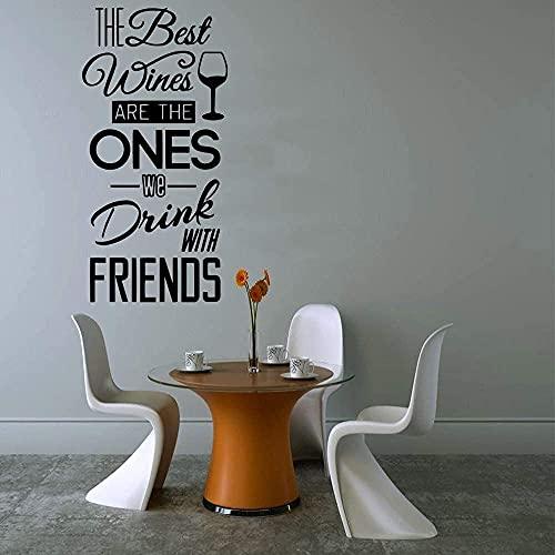 Etiqueta de la pared de la decoración de la cocina del vino tinto a prueba de agua, papel pintado de vinilo, etiqueta engomada del oso de la cocina, etiqueta de la pared 28 x 56 cm