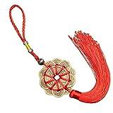YUJIADIAN China Feng Shui Monedas, Adornos Decorativos Hechos a Mano Chinos para el Coche del hogar, 10 Afortunado Rojo Chino Knot Feng Shui Set Encanto 0608