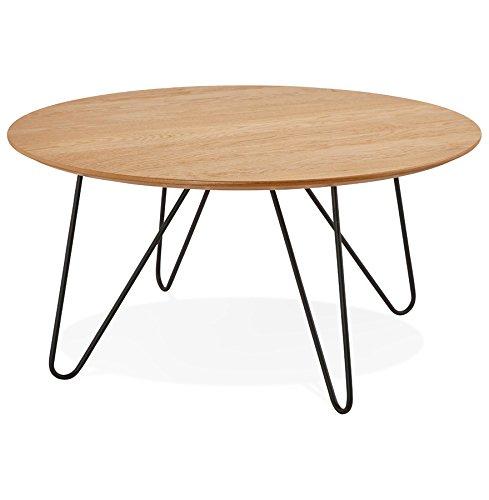 Table Basse Design 'Pluto' en Bois Finition Naturelle