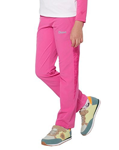 Deeko Pink Hiking Pants for Girls by (Pink US-9/Asian-140)