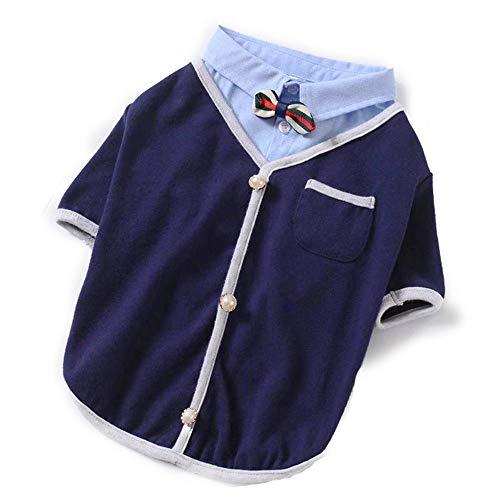 Nobrannd huisdier kleding om warm te houden in de winter kleine oversized middelgrote oversized hond T-Shirt 2 kleuren warm vest Set, L, Blauw