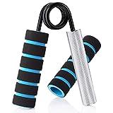 HWeggo Mancuerna para dedos y antebrazos, entrenamiento de dedos, fortalecimiento de la fuerza de agarre, entrenamiento muscular, mango de aluminio, 100 lbs
