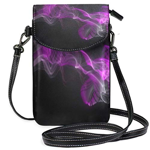 XCNGG Abstract Cloud Purple Cell Phone Purse Wallet for Women Girl Small Crossbody Purse Bags