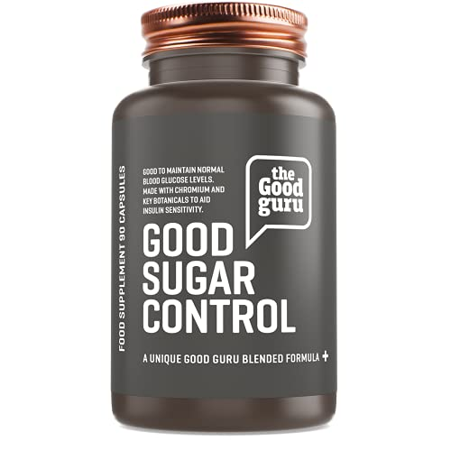 Diabetic Supplement by The Good Guru | Contains Chromium | Ginseng to Lower Blood Sugar Levels | Vitamin C to contribute Normal Metabolism - 90 Capsules